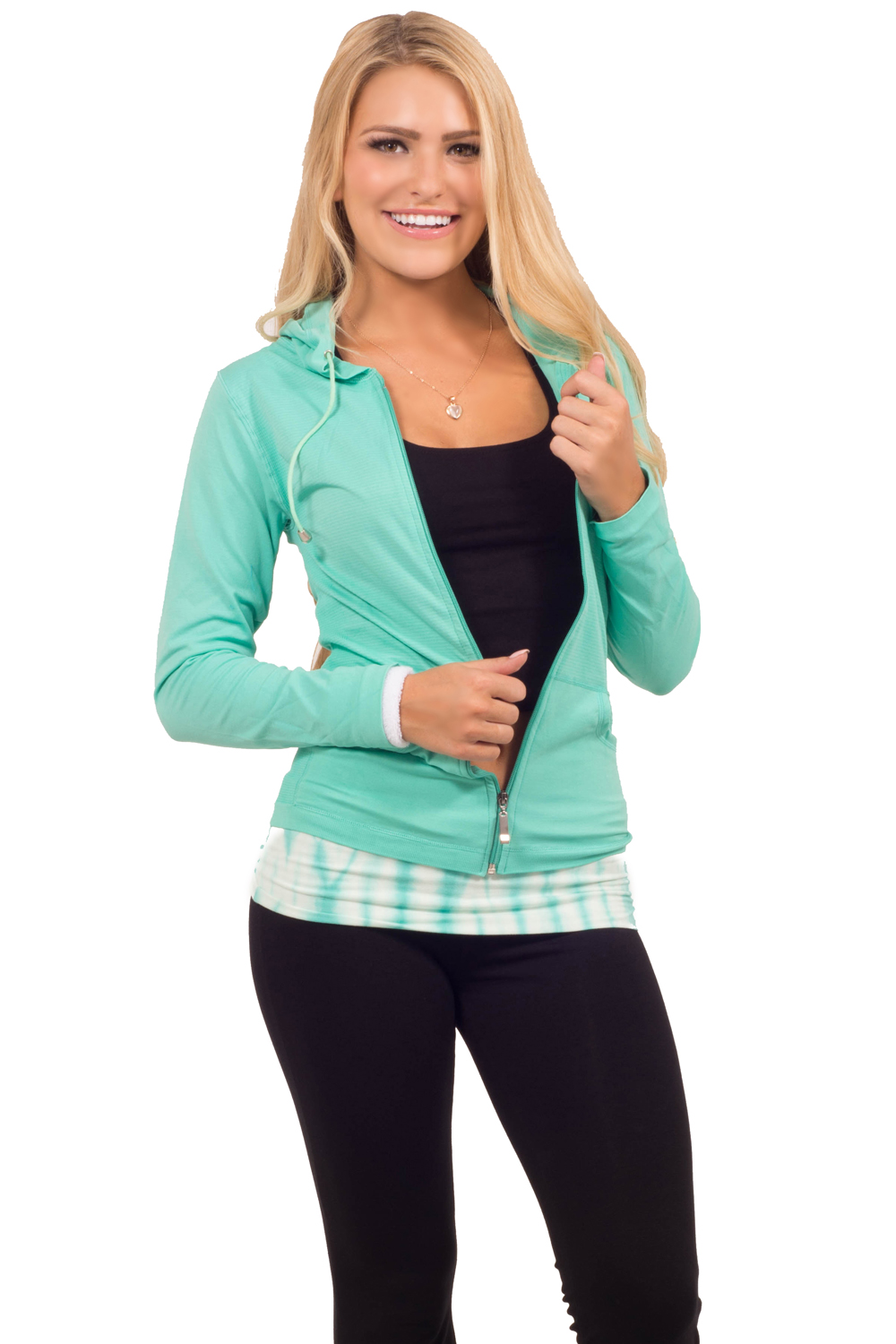 Hot From Hollywood Daily Active Wear Comfortable Chic Stretchy Seamless Lightweight Hoodie Jacket at Sears.com